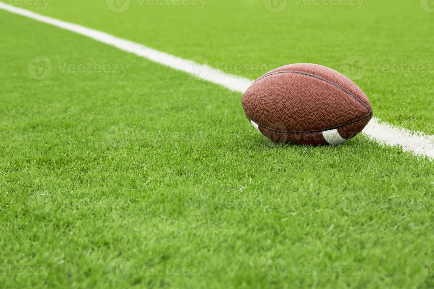 Football field with ball photo