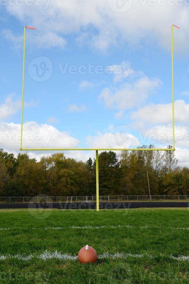 Goal Posts on American Football Field photo