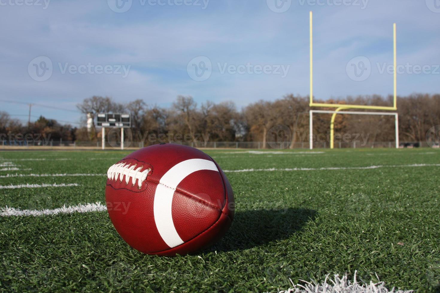 Collegiate Football on the field photo