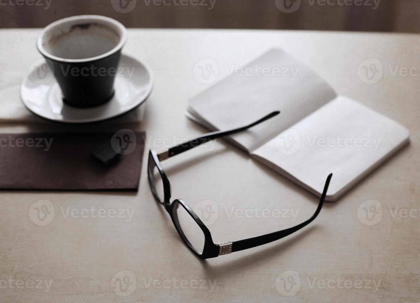 cup of coffee, glasses photo