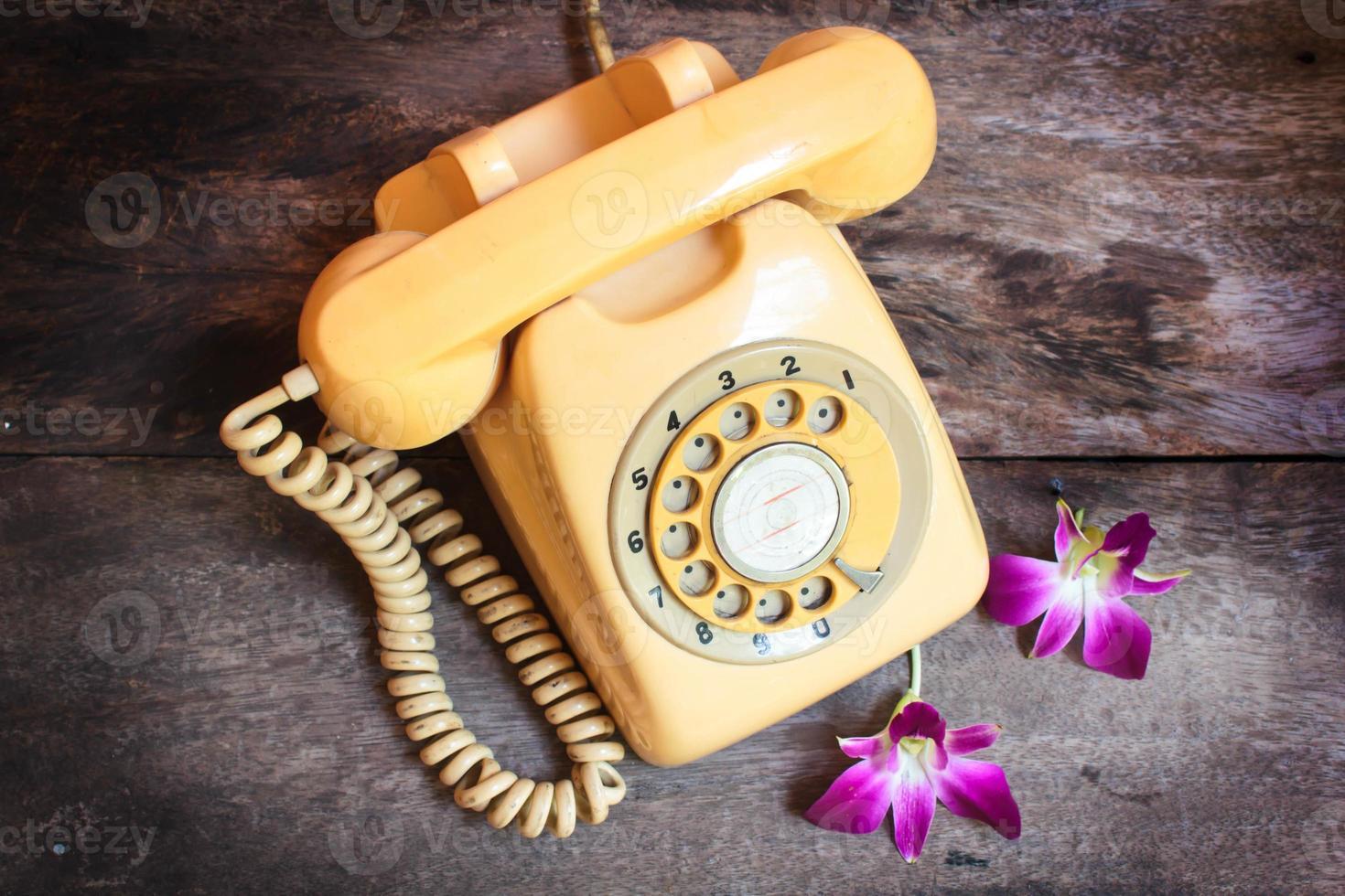 Retro telephone. photo