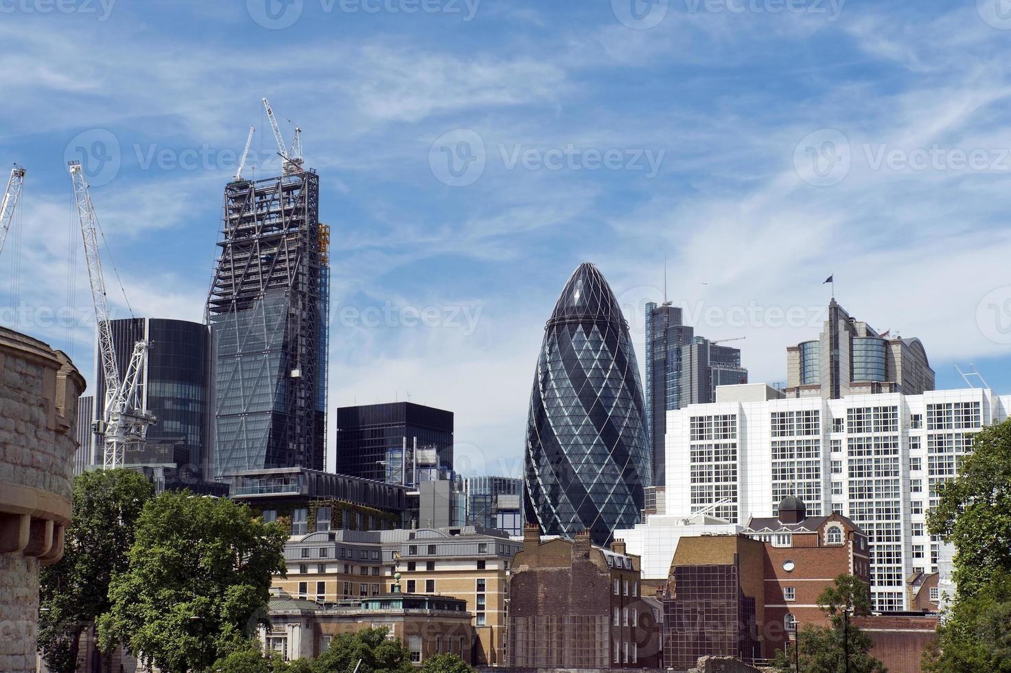 Modern buildings in London photo
