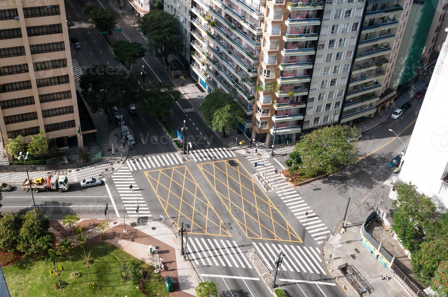 crossing streets in sao paulo photo