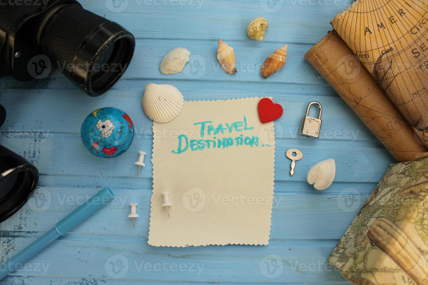 Preparing for travel - try different food concept photo