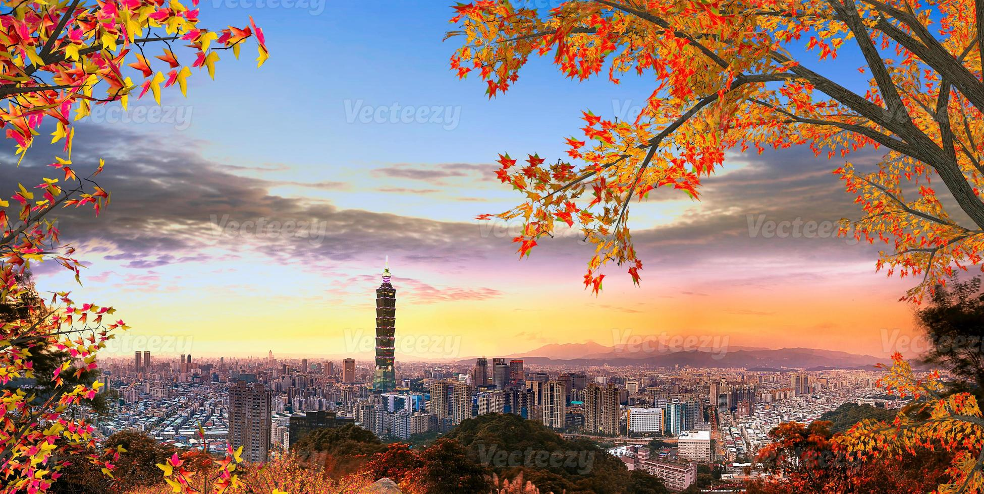 Full view of Taipei city photo