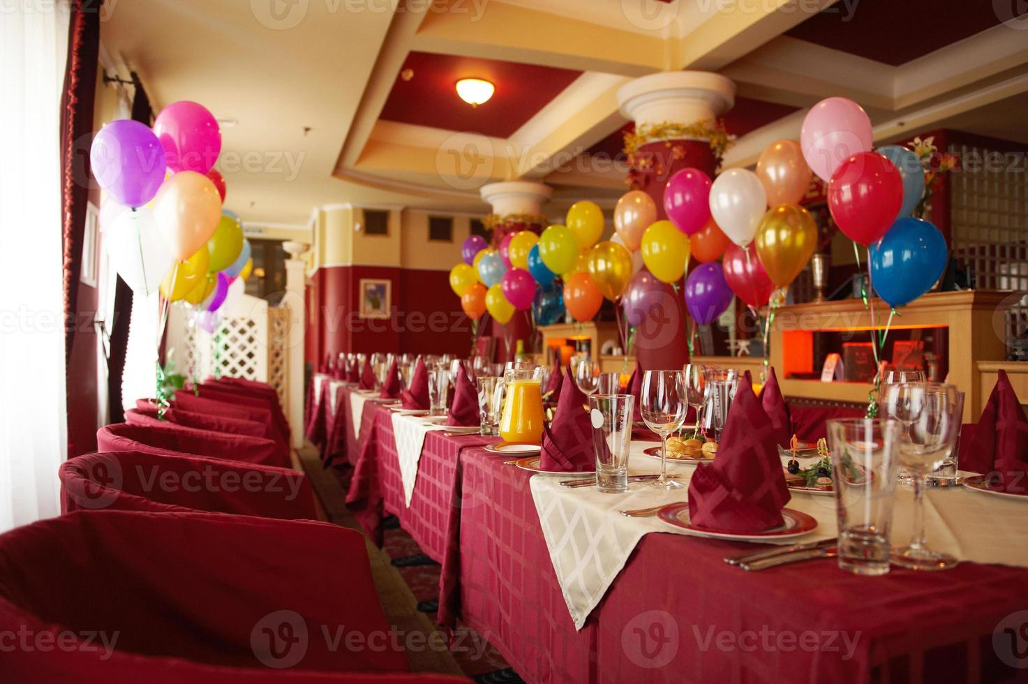 Table set for an event party photo