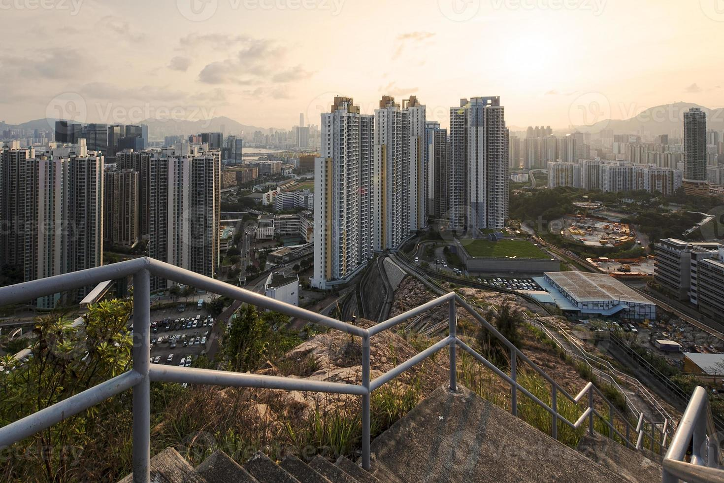 Residential area in Hong Kong photo