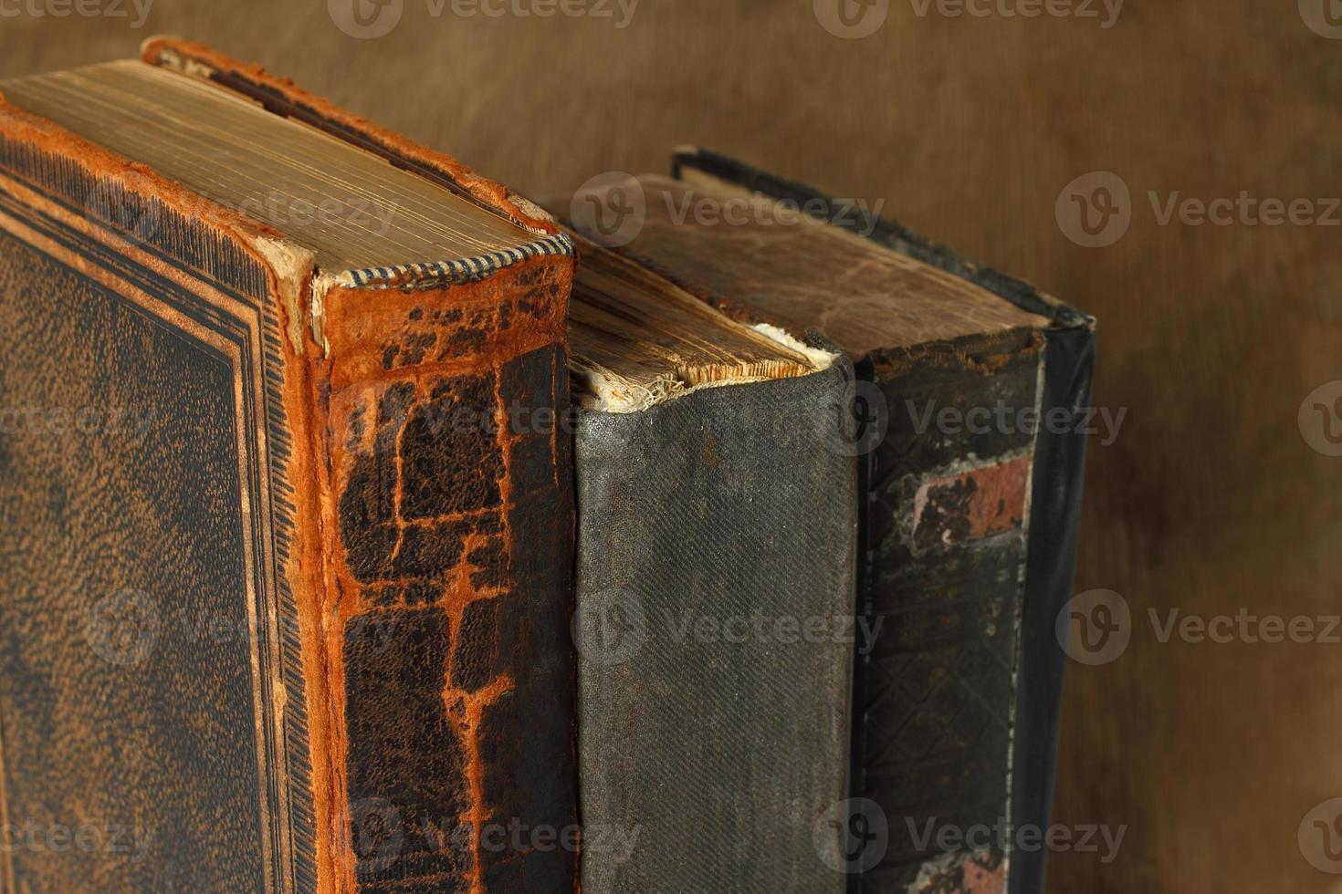 Retro composition with books photo