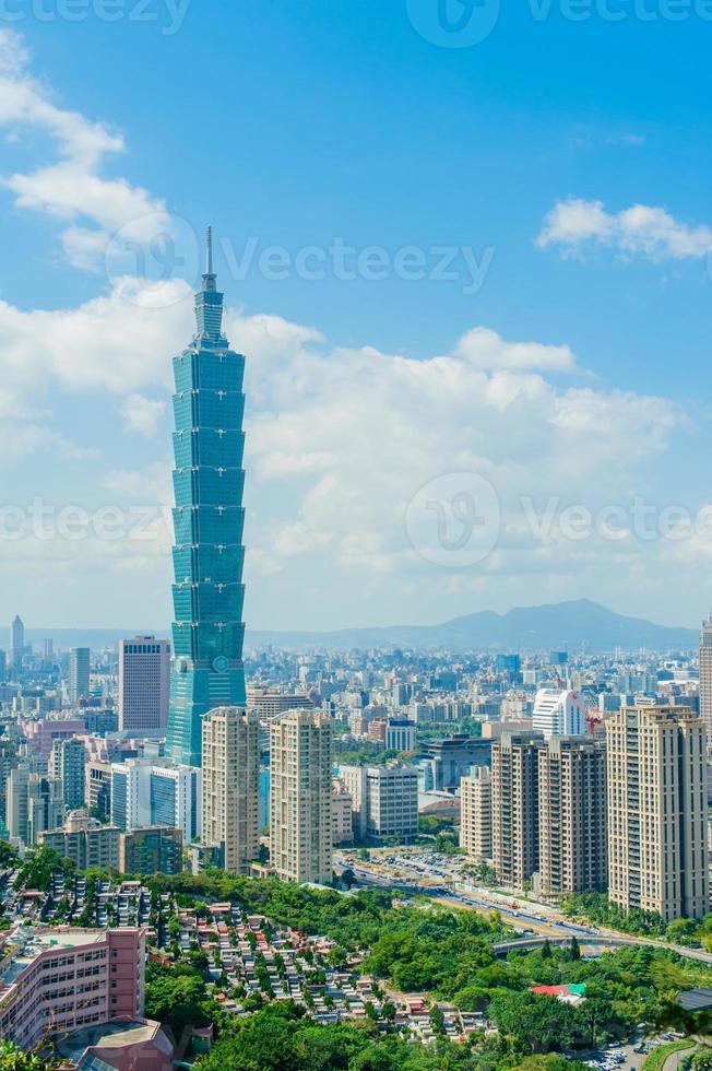 Skyline of Taipei city photo