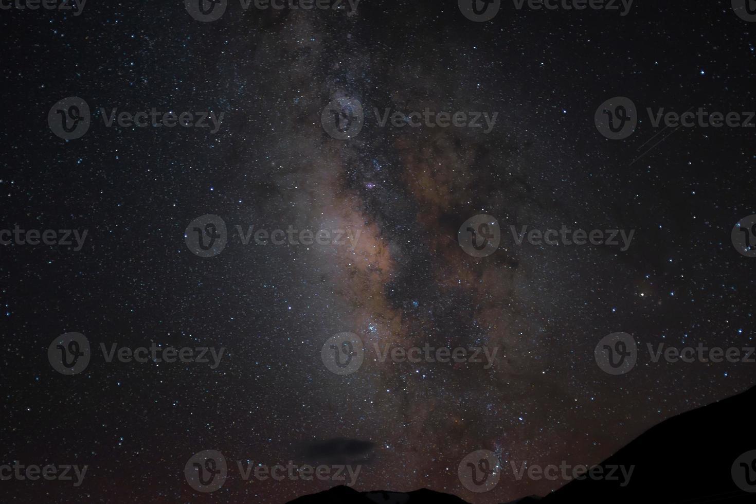 Milky way and shooting stars photo