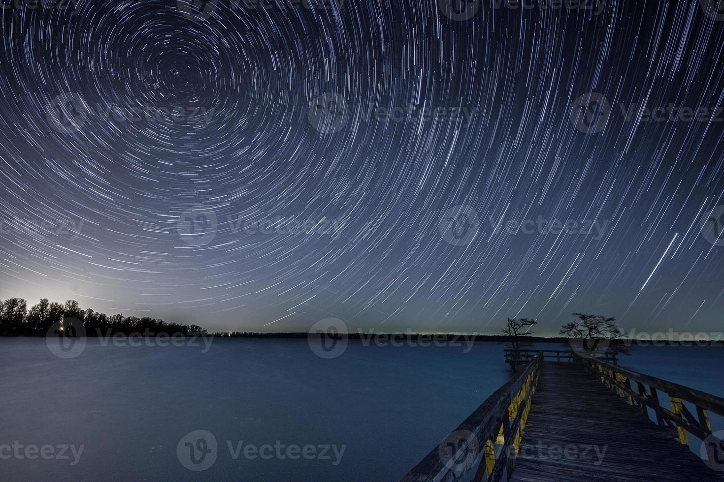 Northern Hemisphere Star Trails photo