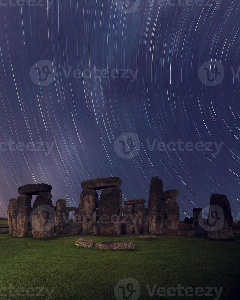 Stonehenge star trails photo