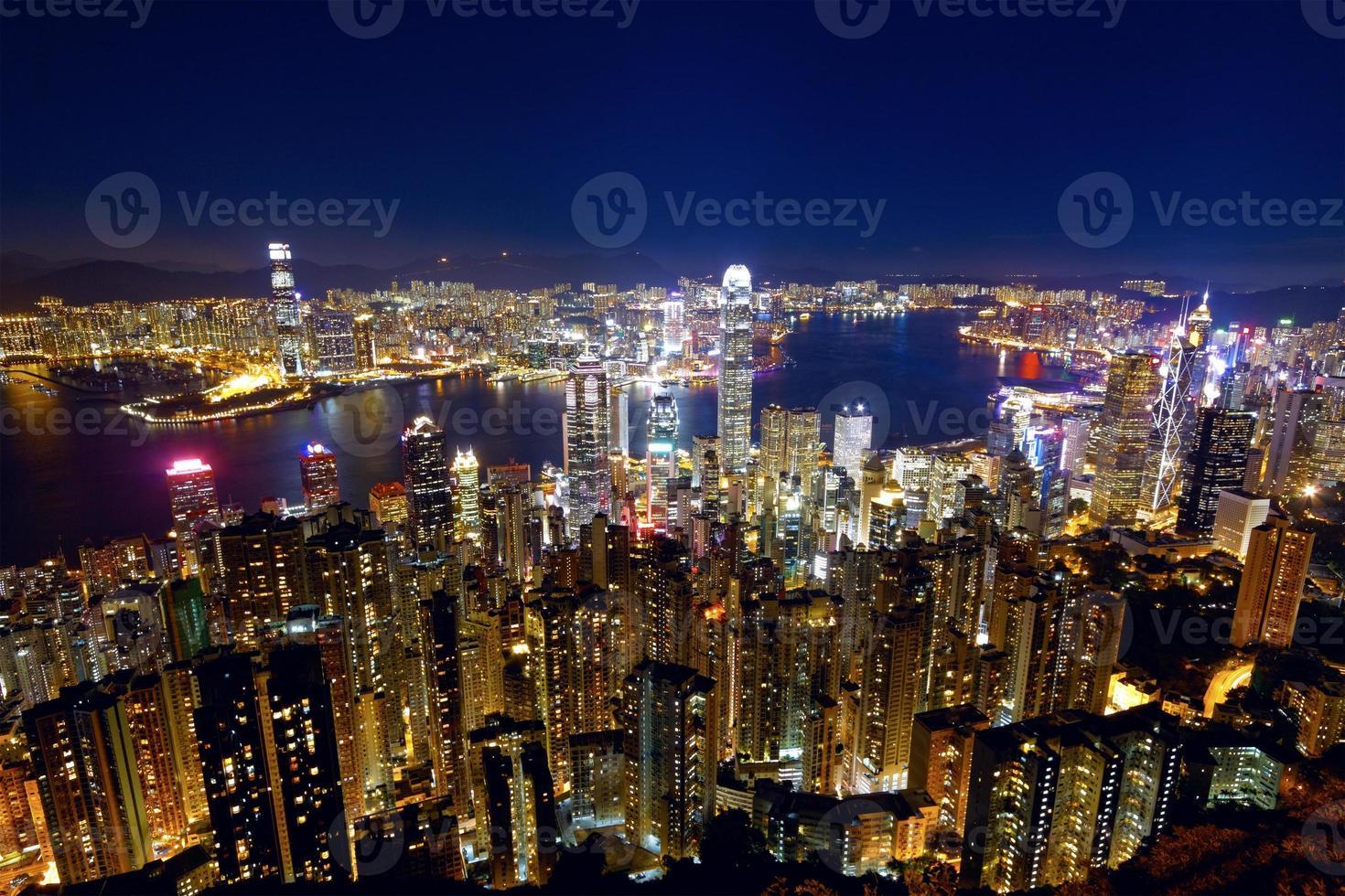 hong kong city night photo