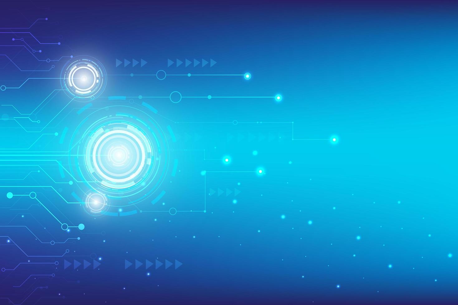 fond bleu hi-tech numérique avec design hud vecteur