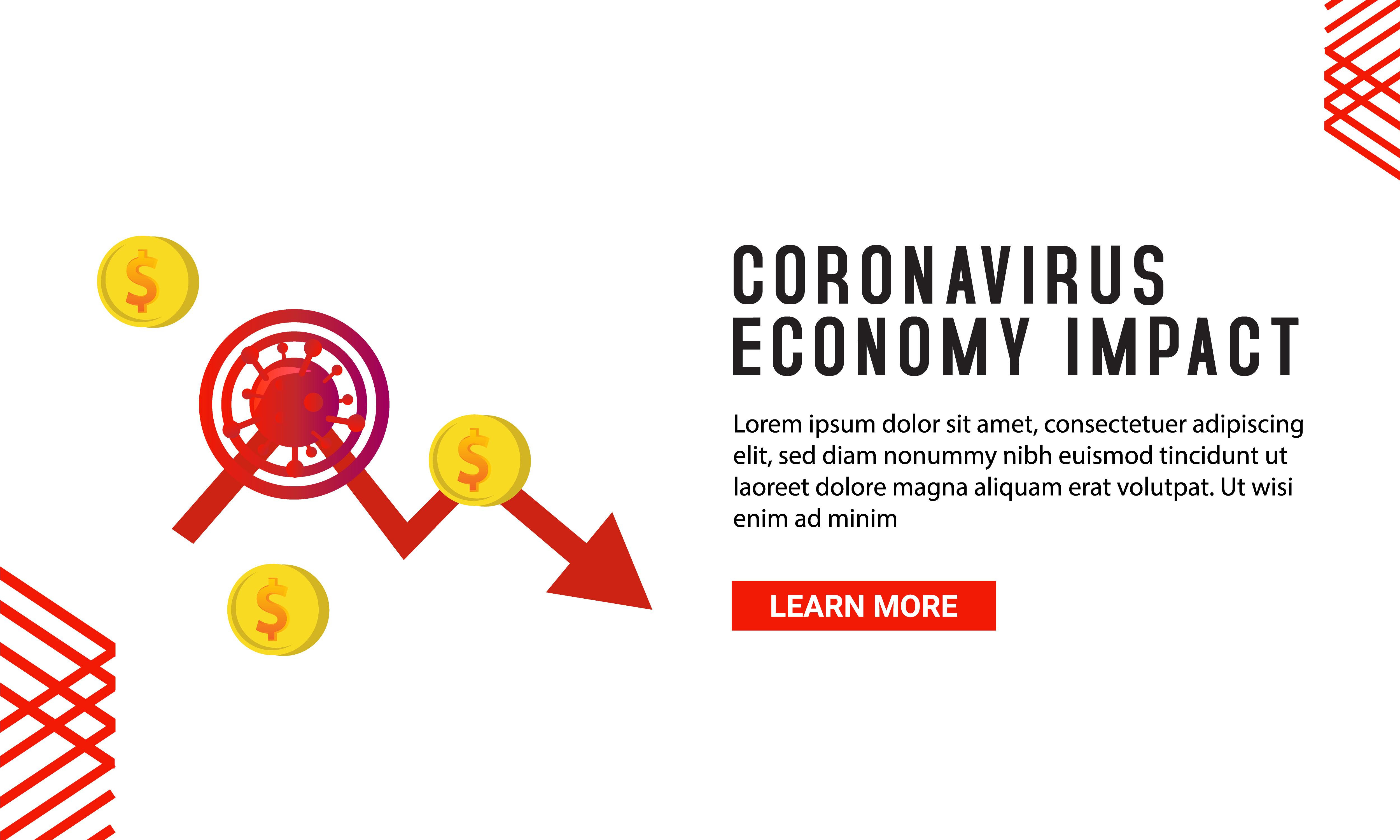 Plantilla De Banner De Impacto Economico De Coronavirus Descargar Vectores Gratis Illustrator Graficos Plantillas Diseno