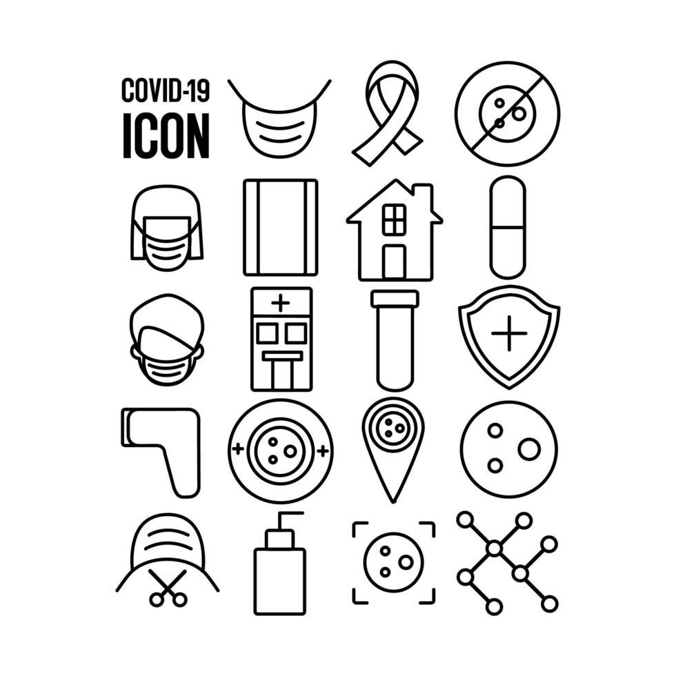 Covid 19 Icon Collection  vector