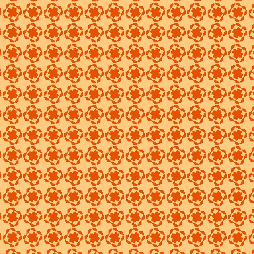 modello di forma geometrica arancione vettore