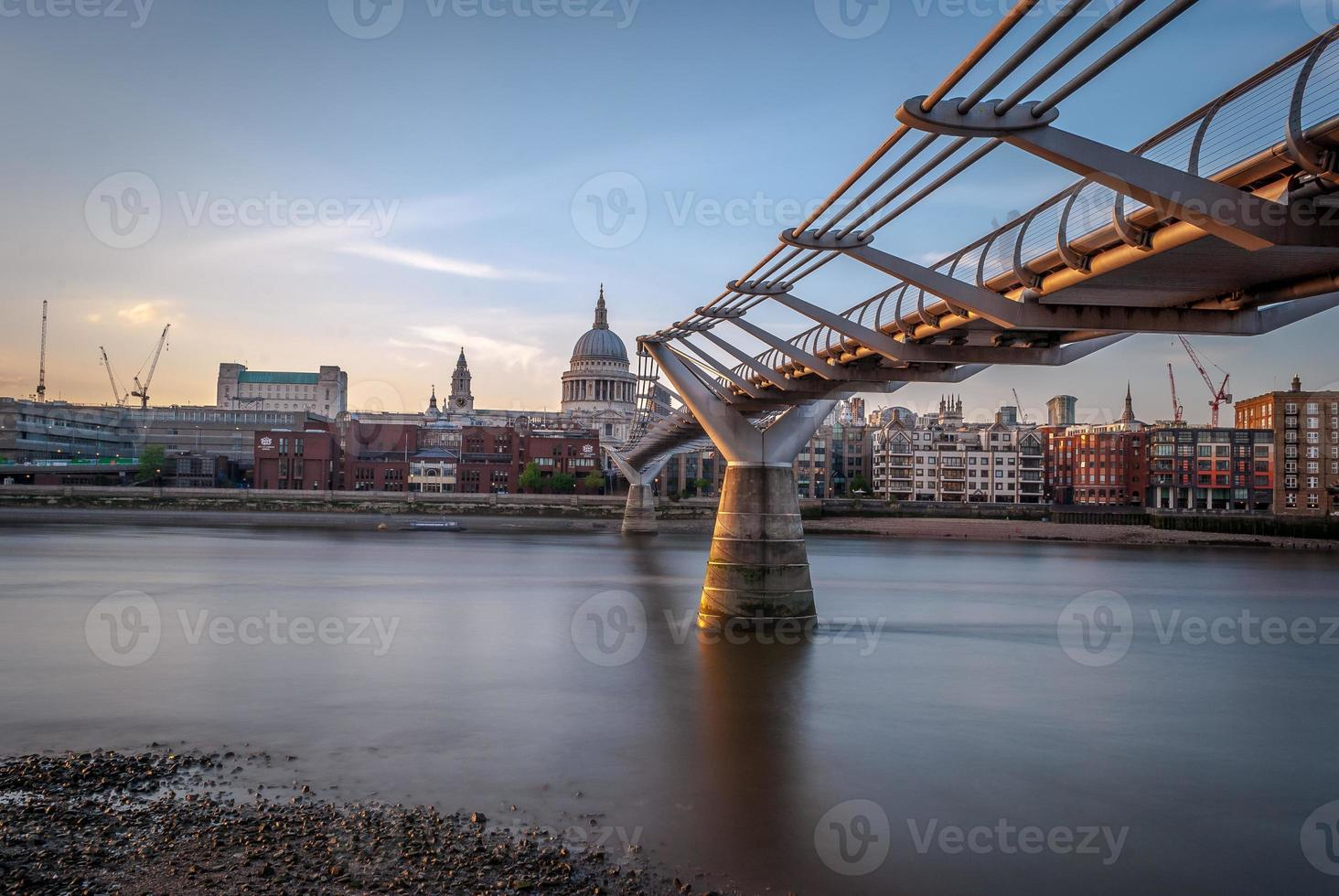Millennium Bridge, London, UK photo
