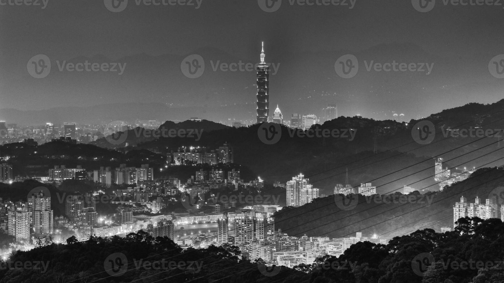 horizonte de la ciudad de taipei foto