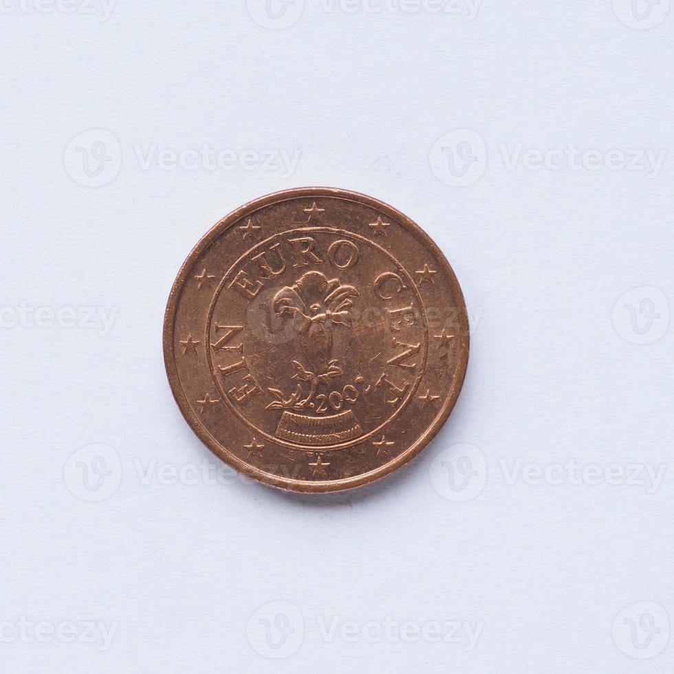 Austrian 1 cent coin photo