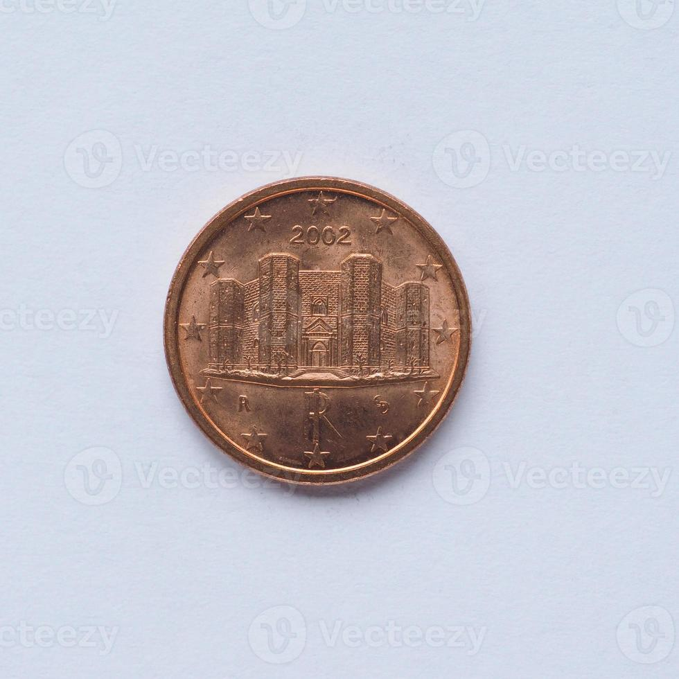 Italian 1 cent coin photo