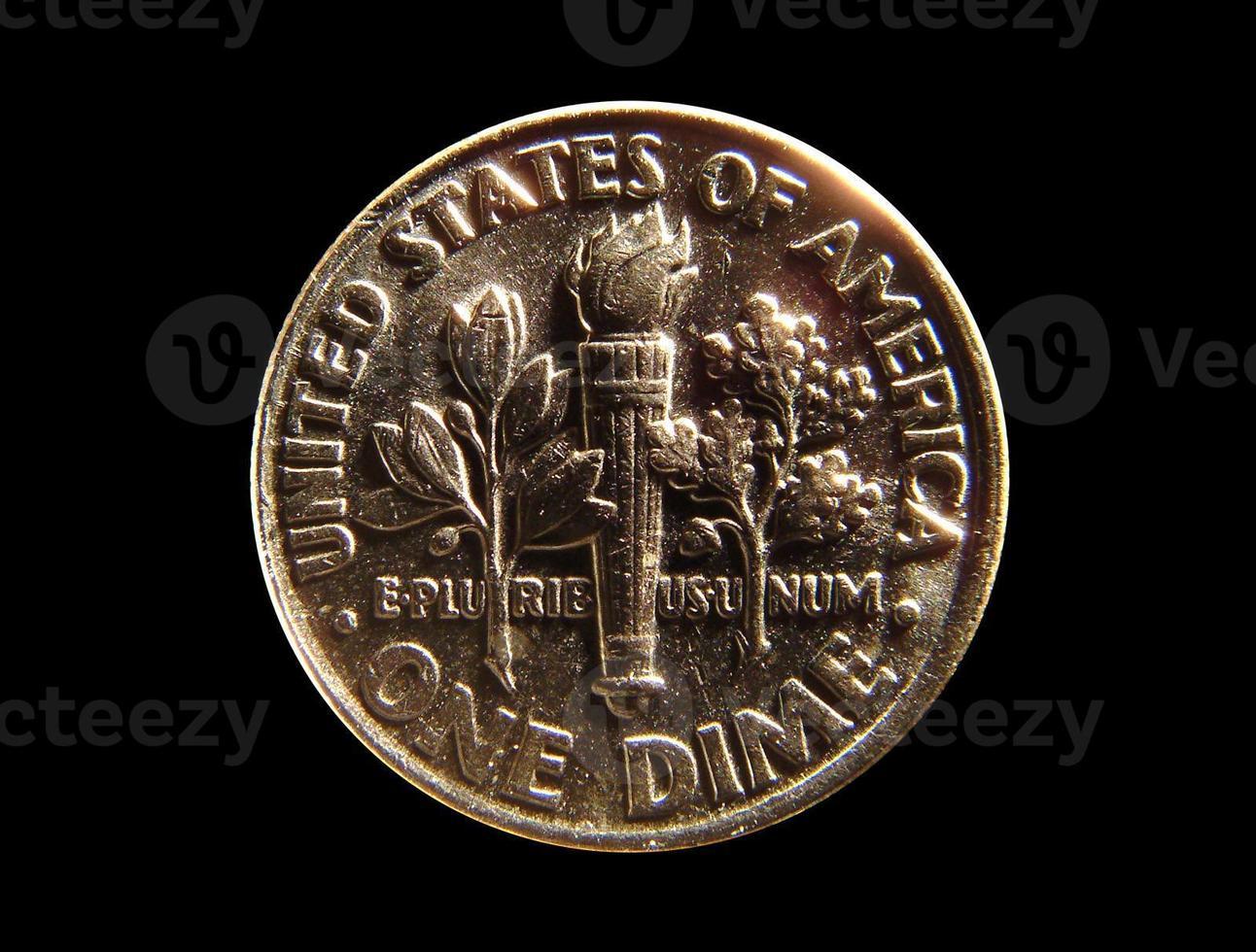 nosotros moneda - una moneda de diez centavos foto