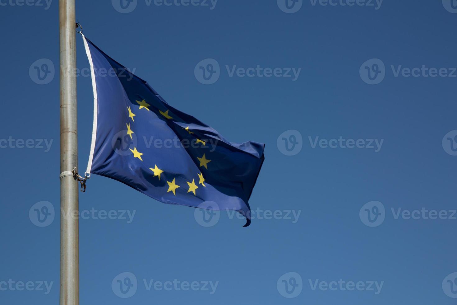 Bandera de Europa Unión closeup foto