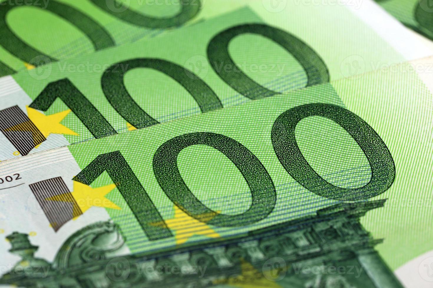 billetes de cien euros foto
