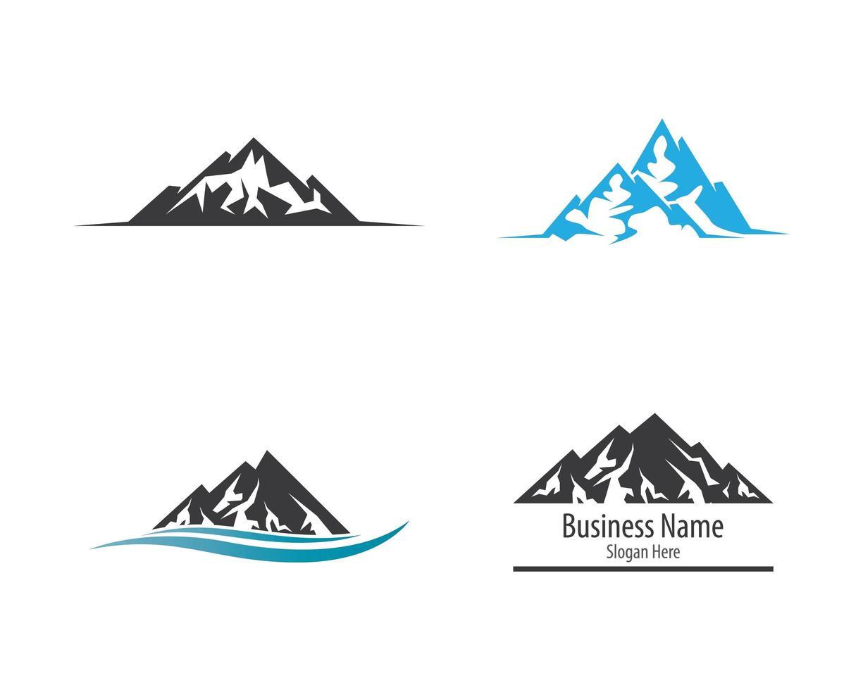 Mountain logo set vector