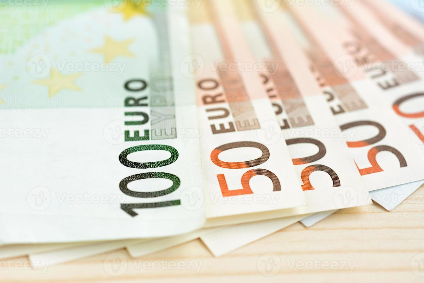 Money,100 and 50 Euro currency (EUR) bills photo