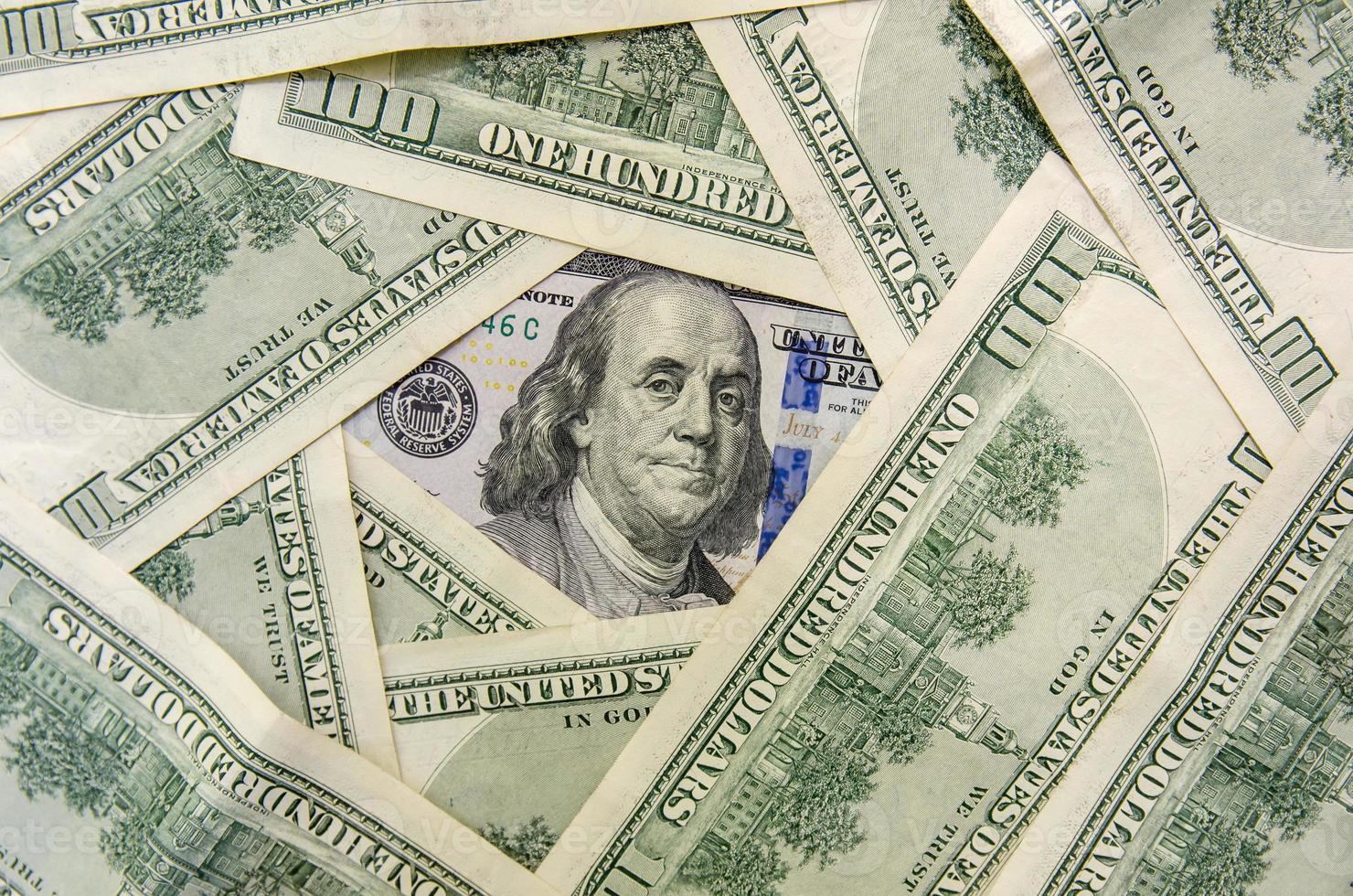 new and old design one hundred dollar bills photo