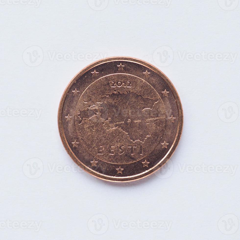 Estonian 2 cent coin photo