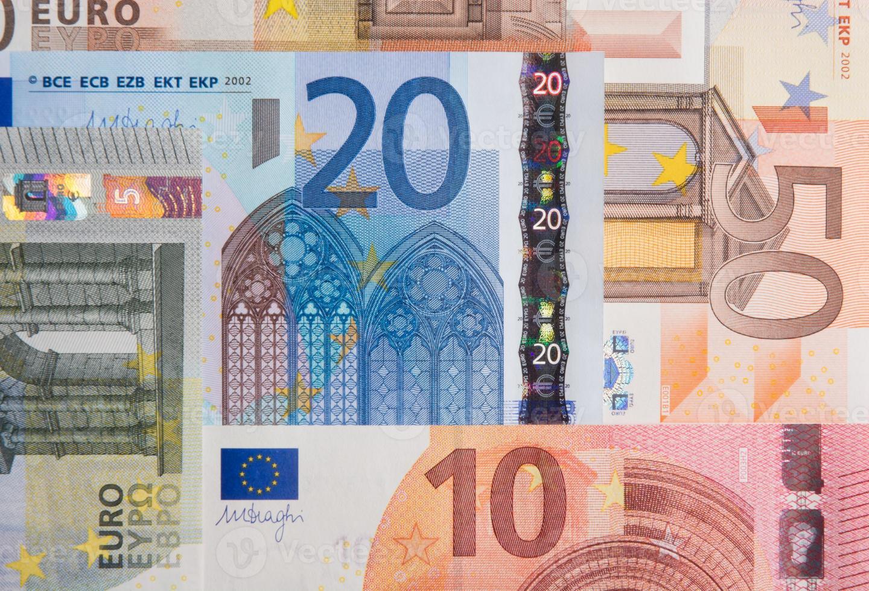 Billetes de 10, 20 y 50 euros foto