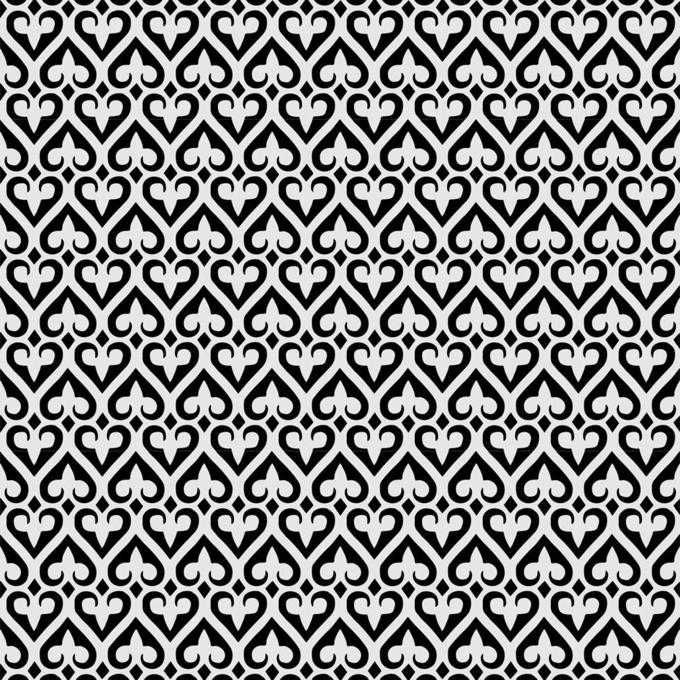 Seamless fleur de lis ornament spade geometric background vector