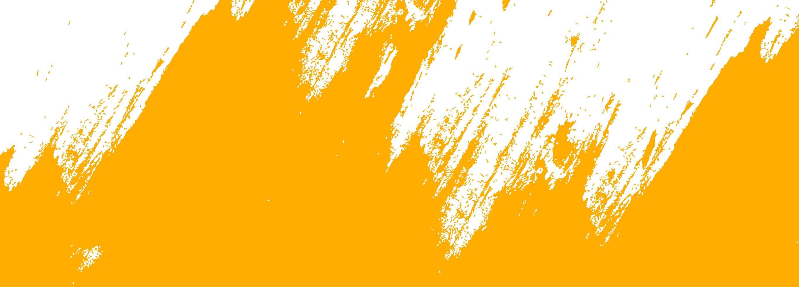 Diseño de banner acuarela abstracta pincel naranja vector