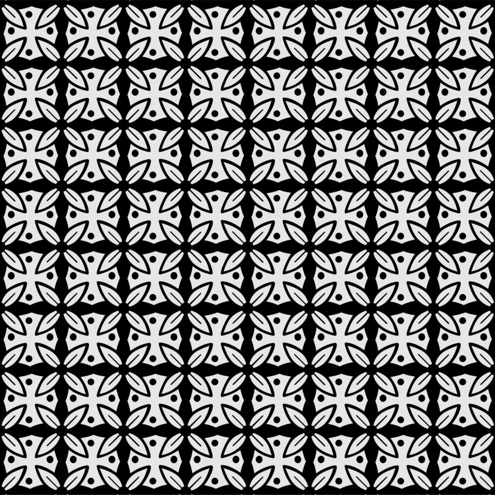Abstract seamless pattern Stylized flower pattern vector