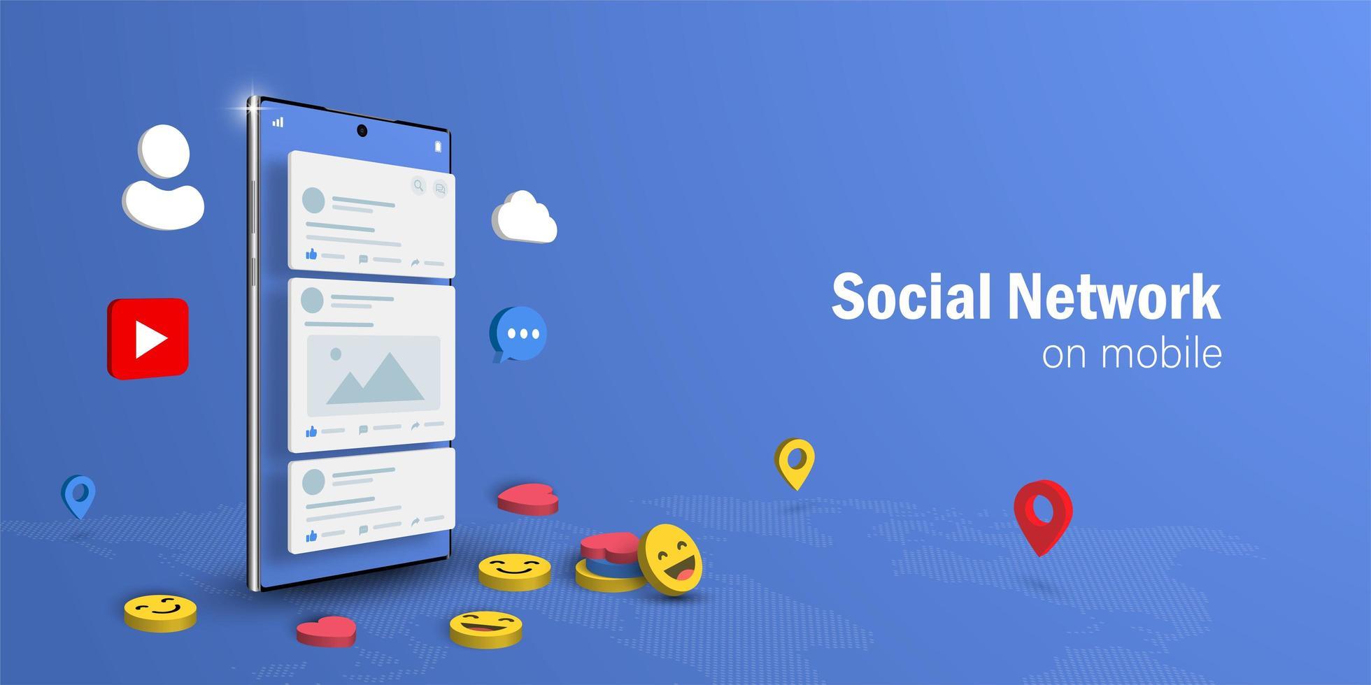 concepto de red social vector