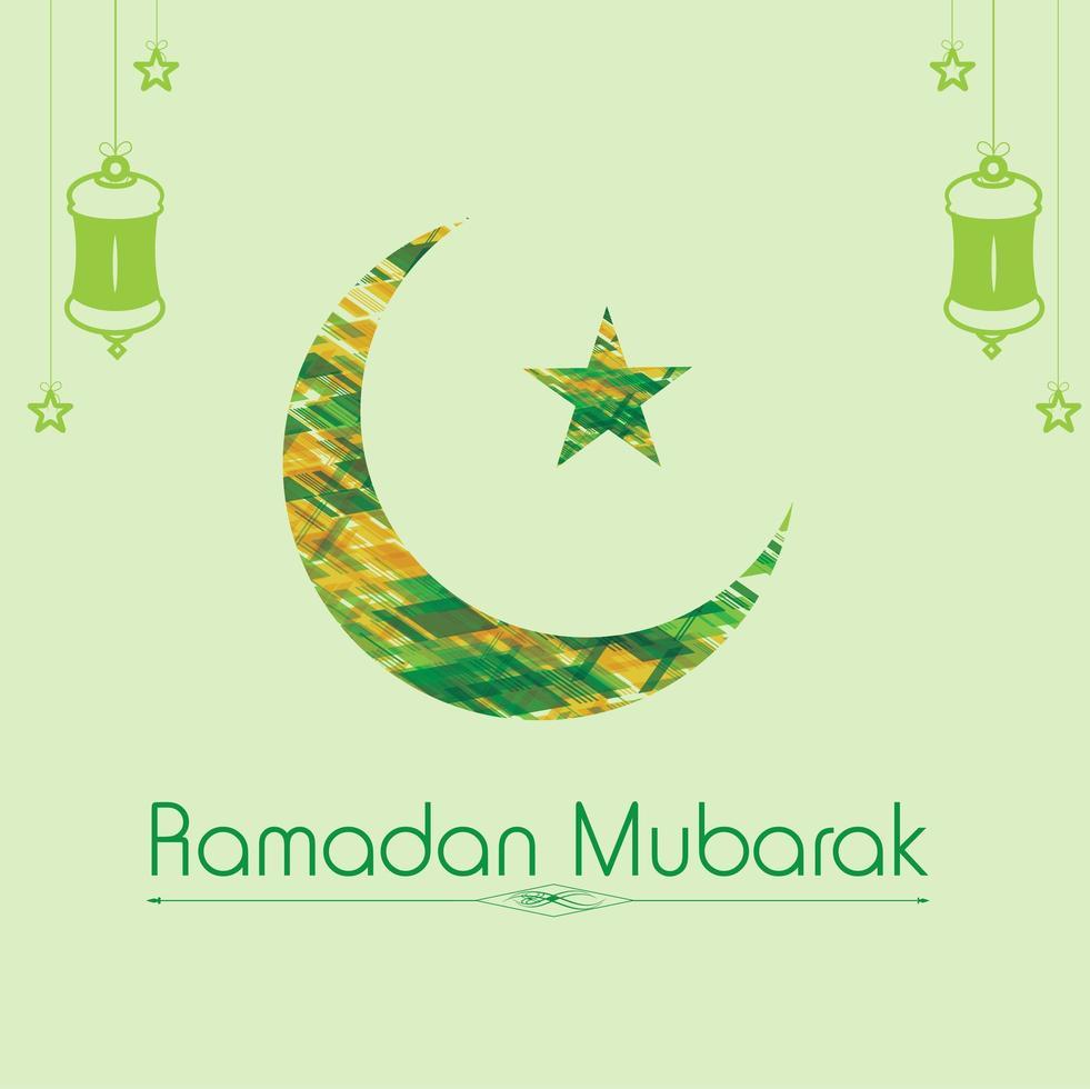 Ramadan Mubarak greeting card design vector