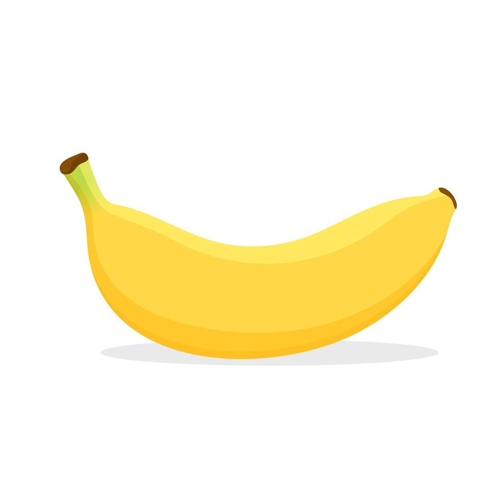 Yellow Banana on White vector