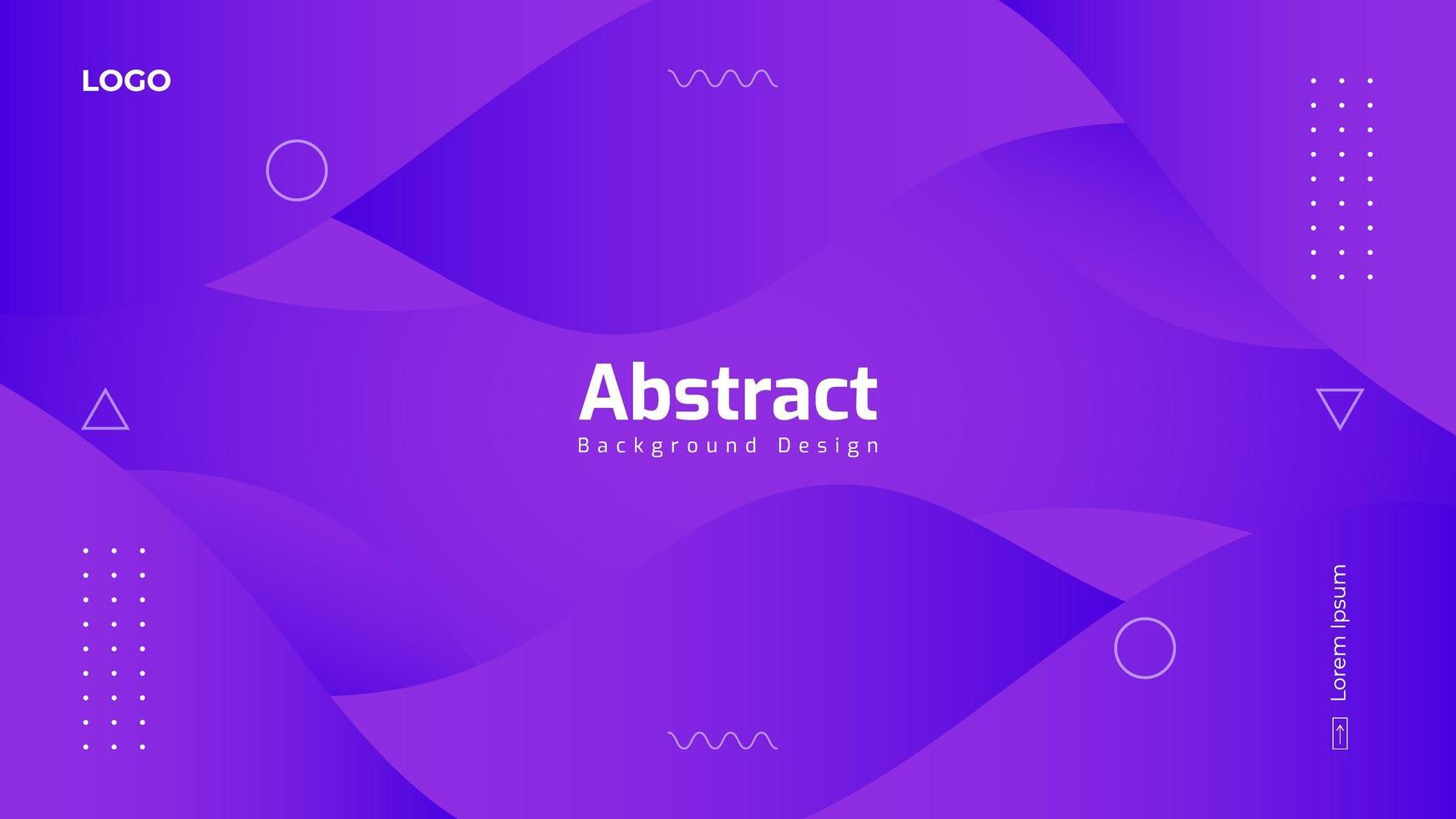 Gradient Purple Abstract Background Design vector