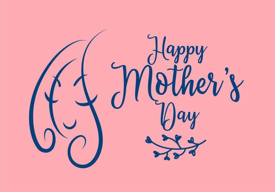 Feliz día de la madre diseño con doodle mujer vector