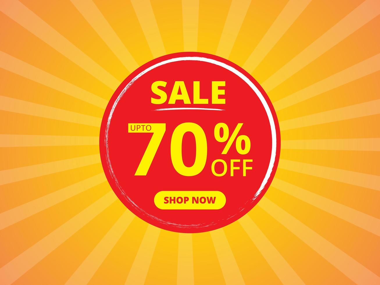 Sale Banner Template Design in Yellow and Red Colors vector