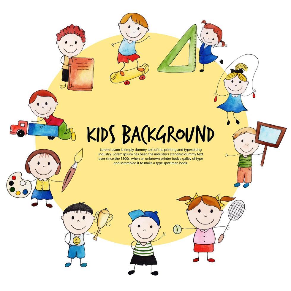 círculo de niños para el regreso a la escuela vector