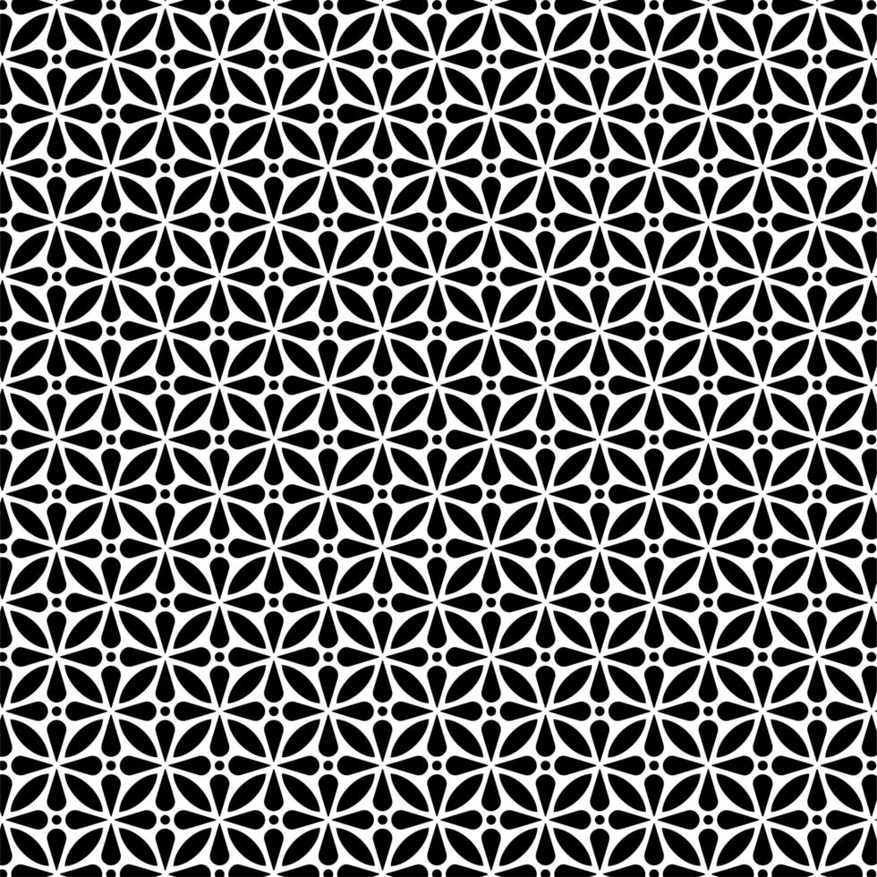 patrón sin costuras de forma floral circular vector