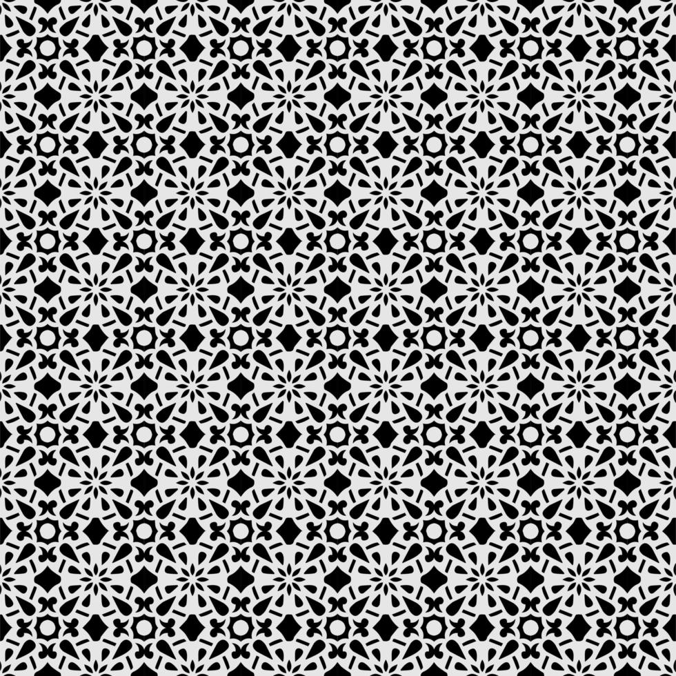 Foral black eamless pattern on gray vector