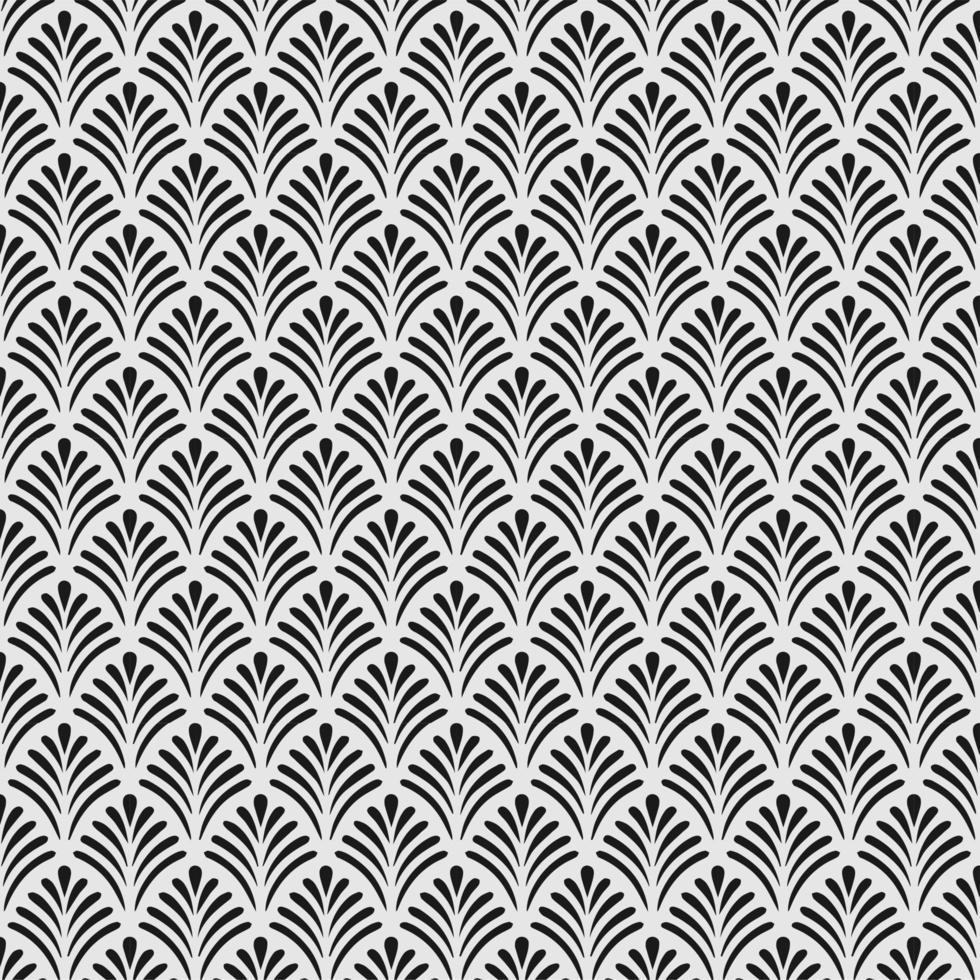 Tropical leaf ornament geometric seamless pattern vector