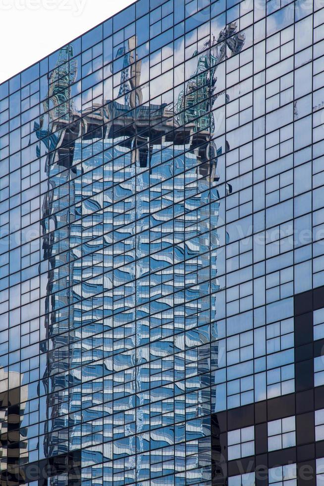 Reflex of construction building photo