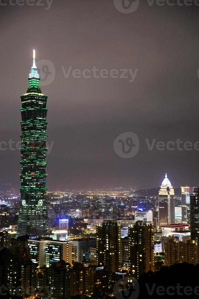 Taiwan, city night photo