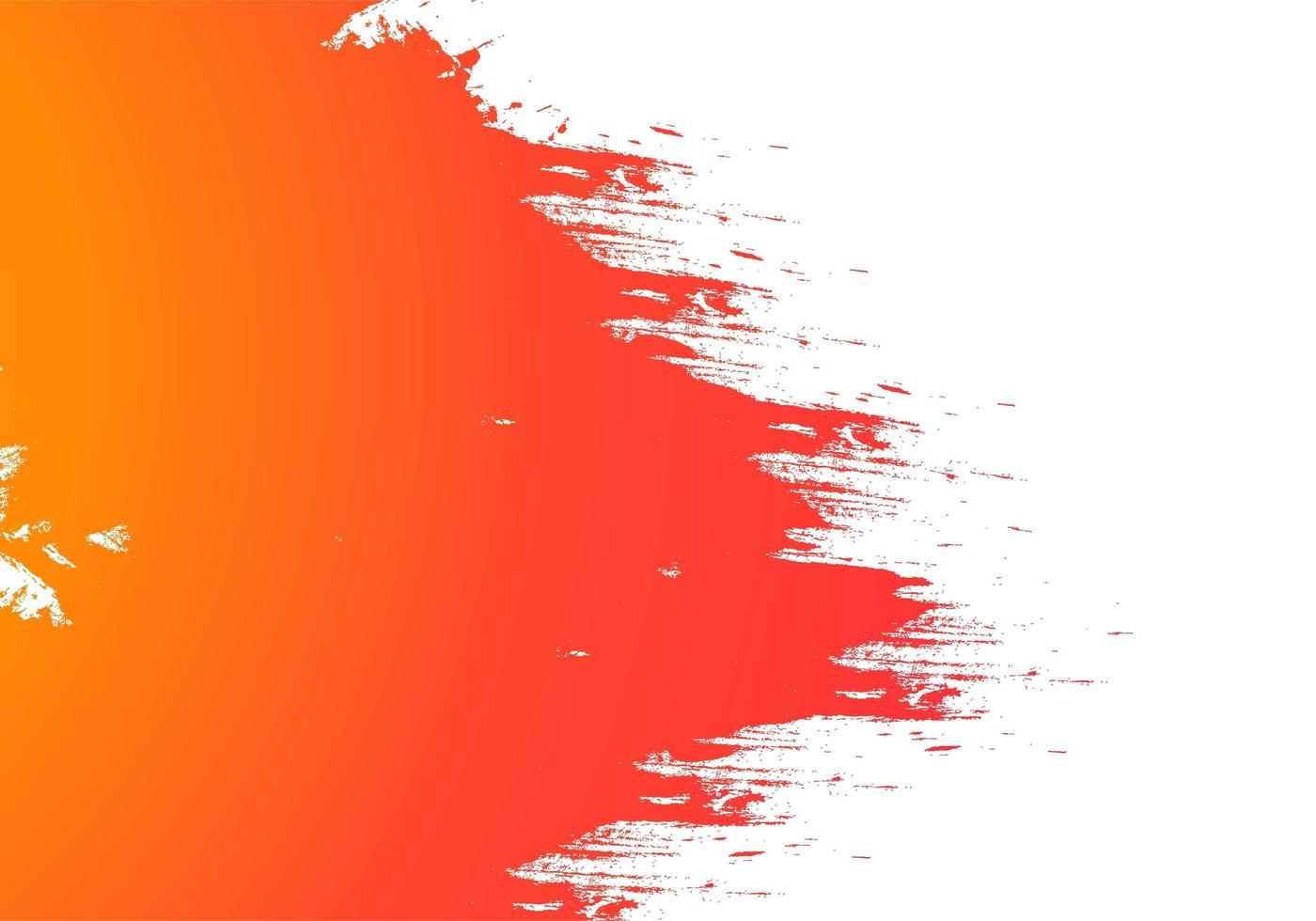 Fondo de pincelada acuarela naranja amarillo abstracto vector