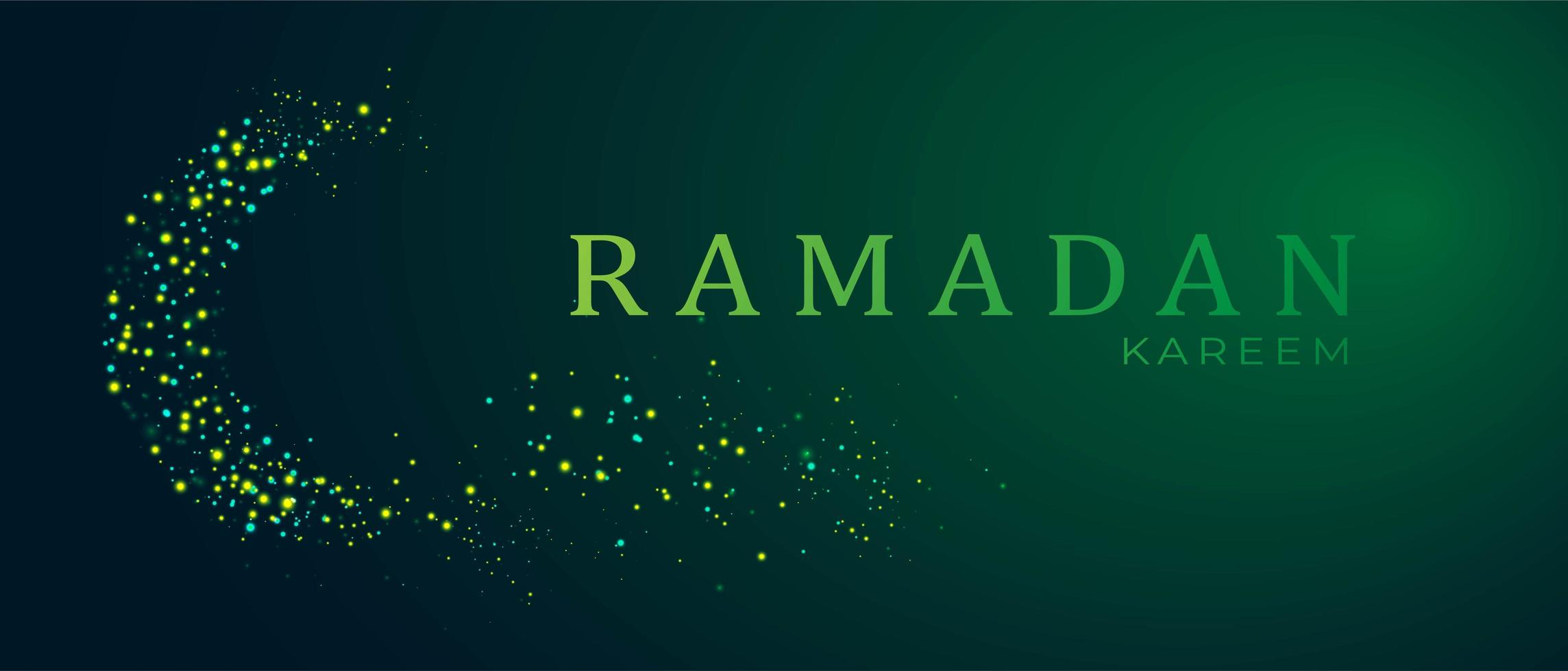 Ramadan kareem background with space for text vector